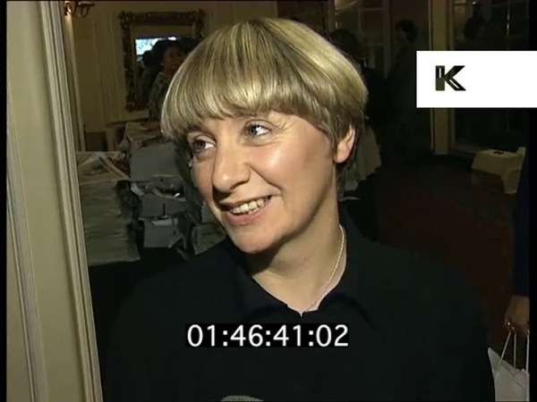1990s Victoria Wood Interview at Woman of the Year Awards London