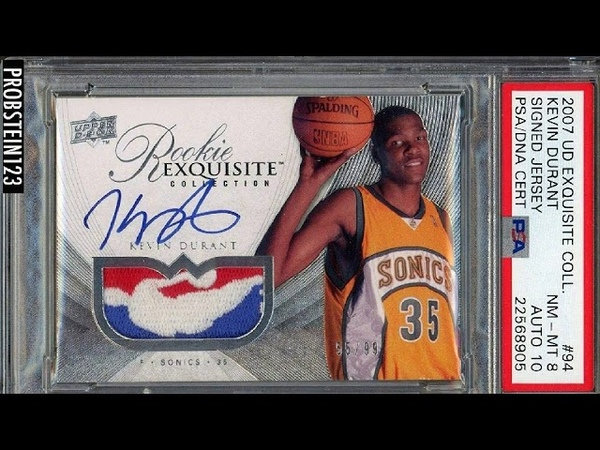 2007 08 UD Exquisite Kevin Durant RPA RC NBA Logoman Patch AUTO 10 PSA DNA Certified Basketball Card