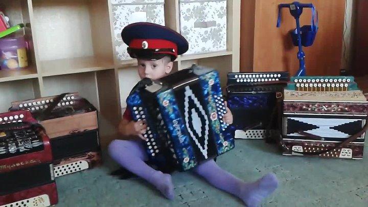 Гармонист Андрюша Ананьев, 3 года Новосибирск