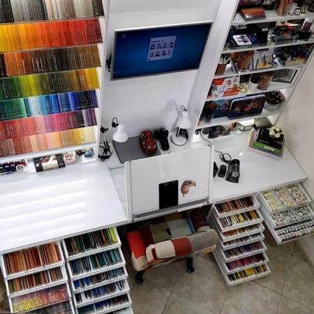 "Sheila R Giovanni on Instagram ""My Art Studio 💙💚💛🧡💜 😍 artstudio myplace studio gallery artoftheday instaart creative artwork painting dr..."