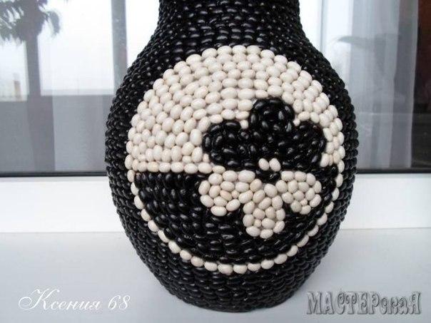 Декор горшка фасолью (5 фото) - картинка