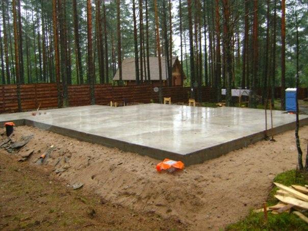 Лучший фундамент для дома из газобетона и пенобетона в железобетонная плита, обеспечивающая минимальность и равномерность усадочных деформаций