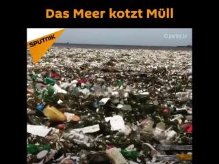 Das Meer kotzt Müll