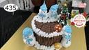 Chocolate cake decorating bettercreme vanilla (435) Học Làm Bánh Kem Giáng Sinh (435)