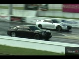 Tuned Nissan GT-R vs Supercharged Charger SRT 8 w/ 6.4 Liter Hemi - Drag Race Video - Road Test TV