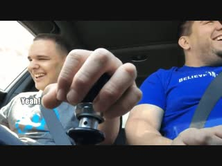 Dad teaches son who has autism and is blind how to switch gears in his car