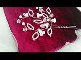 Свадебная шпилька из проволоки и бусин. Ручная работа. Плетение из бисера и проволоки.