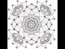 Вяжем цветок в квадрате \\ Ирландское кружево \\Вяжем по схемам