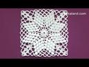 CROCHET Motif Tutorial How to crochet square motif PART 1, 1 5 round