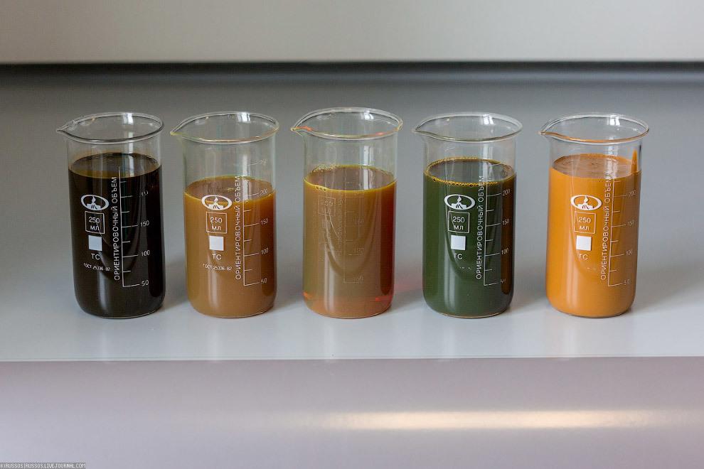 Какого цвета бывает нефть.