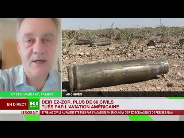Syrie 62 civils tués dans des frappes de la coalition menée par Washington
