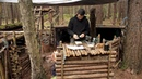 Bushcraft Fishing - Catch and Cook Deep Fried Fish on the Fire at The Bushcraft Camp