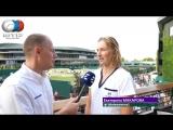 Ekaterina Makarova Interview Wimbledon 3R
