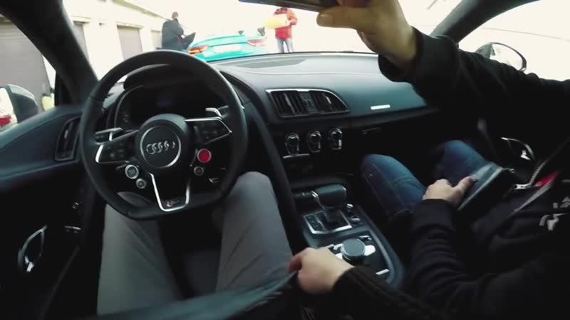 Audi RS6 против Audi R8 на треке! Тест драйв Ауди Р8 и Ауди РС6 Авант