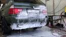 BMW x5 4,8is exhaust wash. Пенная вечеринка из глушителя!