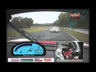 VLN 06 2011 Start Sabine Schmitz Frikadelli Racing
