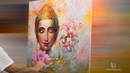 Buddha Art — Oil Painting on Canvas by Leon Devenice