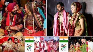 16 Star Indian Cricketers Wedding Moments || Indian Cricketers With Wives
