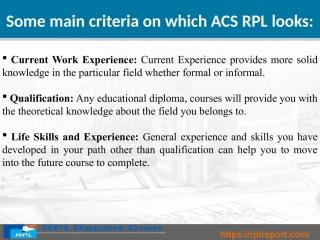 RPLReport.com provides the best ACS RPL Report
