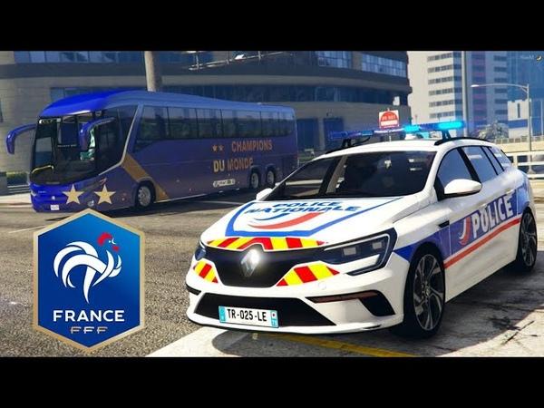 GTA 5 RP CONVOI EQUIPE DE FRANCE COUPE DU MONDE 2018 2