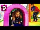 Влог Первый раз НА БАНДЖО БАТУТЕ Детская Игровая Комната Kids Indoor Playground Fun Play Place