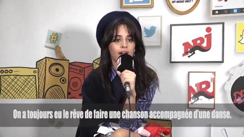 Camila talking about Sangria Wine for NRJ Radio