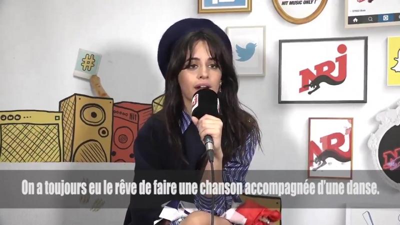 Camila talking about Sangria Wine for NRJ Radio