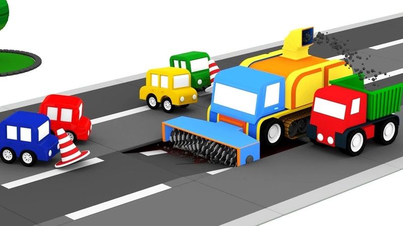 Le macchinine colorate e la fresa per asfalto!