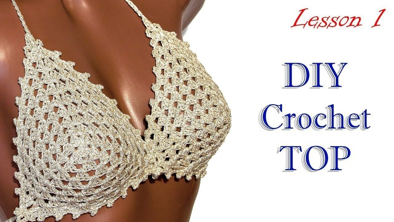 Как вязать топ MK1 / How to croched crop top