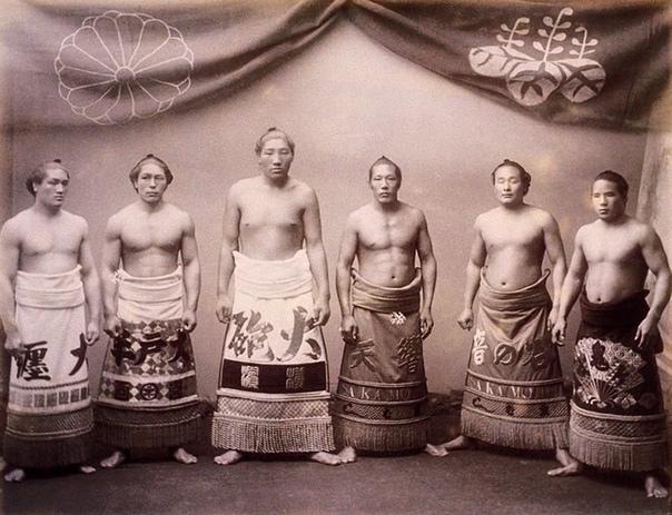 Борцы сумо когда-то были не такими массивными 1890 г.