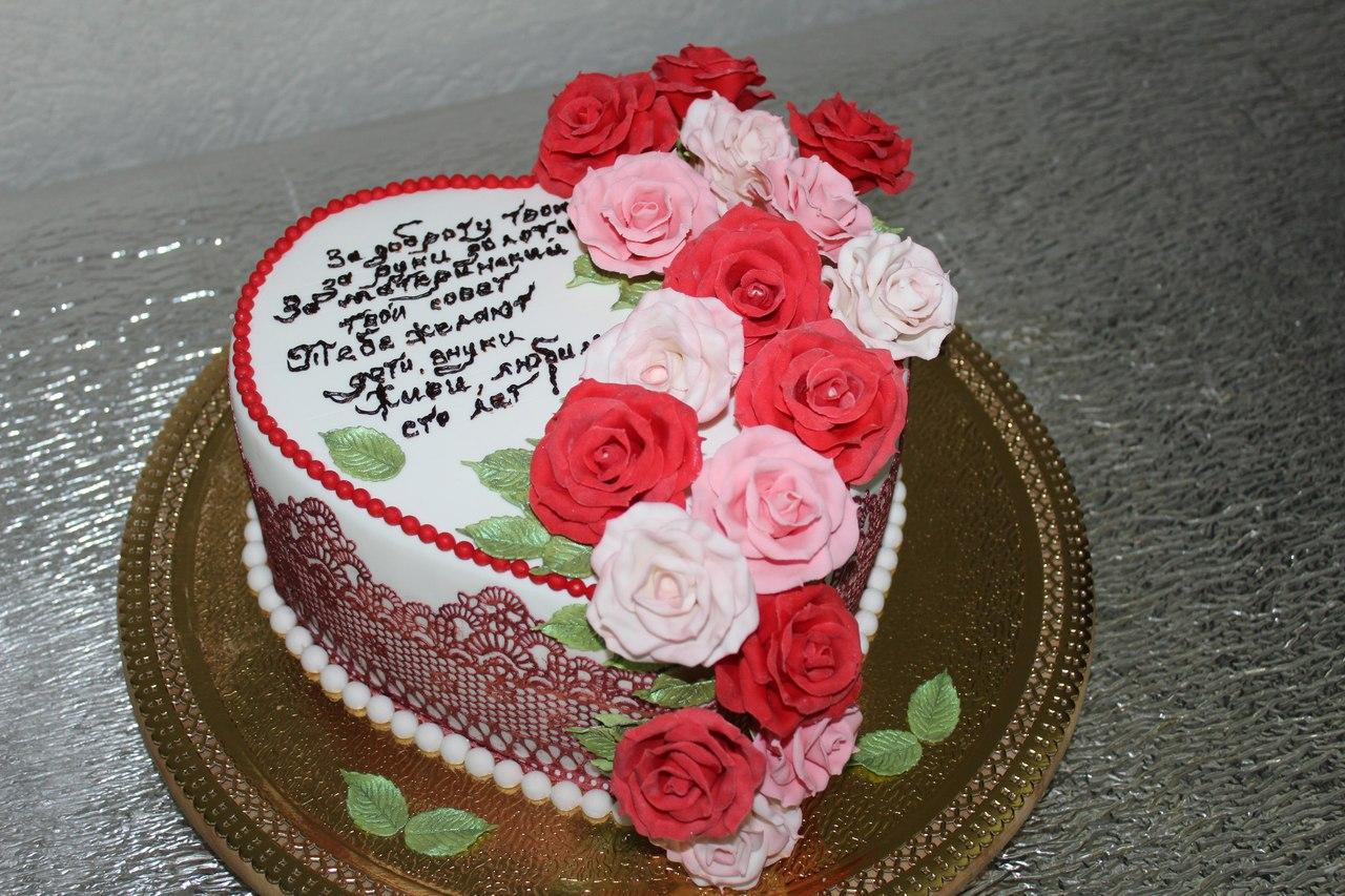 Торты для мамы фото цветы