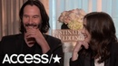 Keanu Reeves Winona Ryder Hilariously Discuss Their Awkward 'Destination Wedding' Sex Scene!