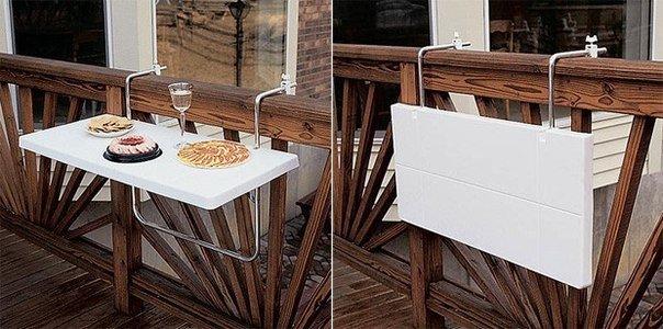 Откидной столик для балконов #DIY_Идеи