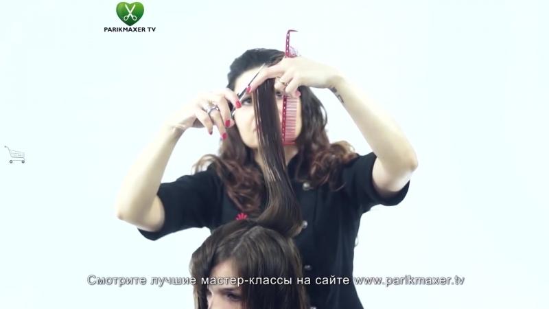 Женская стрижка опасной бритвой. Marine Muradyan. Парикмахер тв