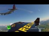 Spectacular video: Jetman sails alongside B17 bomber