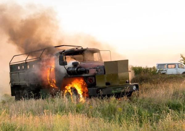 Появилось ВИДЕО с места боя с применением авиации на ПП «Мариновка» рядом с границей Ростовской области