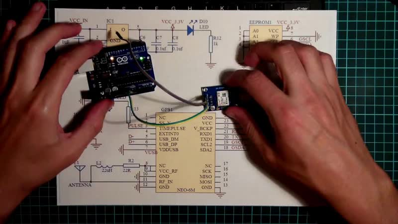GPS module NEO 6M из магазина Mega Semi GPS часы на LCD
