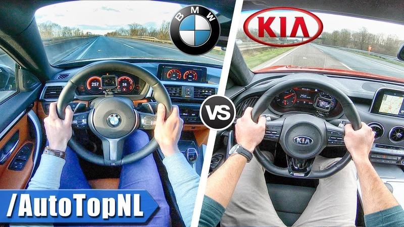 Kia Stinger GT vs BMW 440i xDrive   0-250km/h ACCELERATION TOP SPEED POV SOUND by AutoTopNL