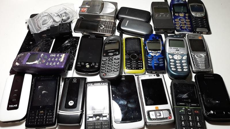 80 Телефонов посылка из Германии за 30$. Часть №3. BOSCH GSM 908 . Nokia 6210. Nokia 5130