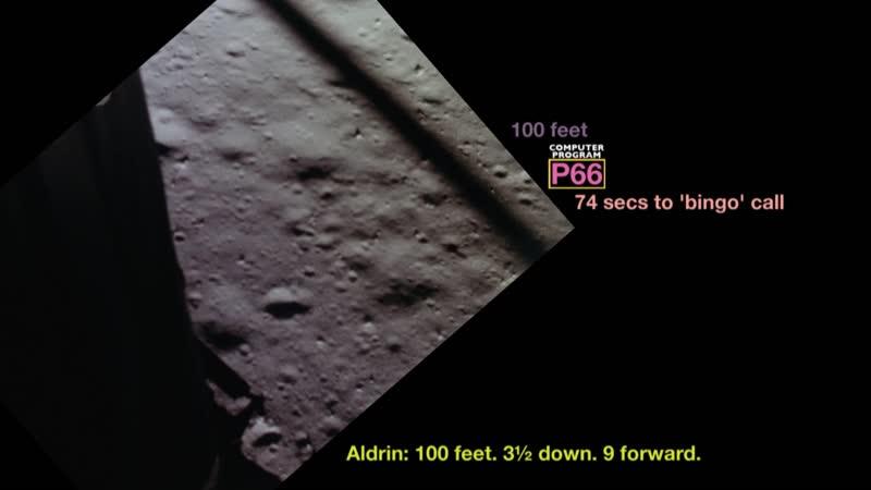 Apollo 11 landing from PDI to Touchdown