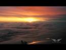 Потрясающе красивыи вид из кабины самолета