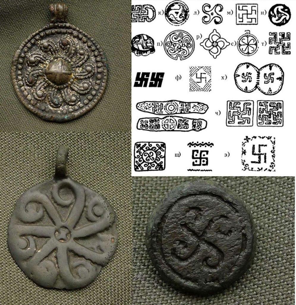 Подвески и поясная накладка Киевской Руси 9-11 век н.э. (официальная хронология)