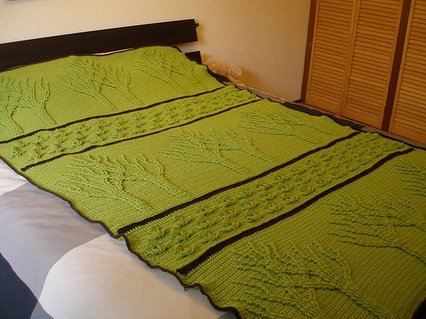 "Вязаное одеяло ""Дерево жизни"""