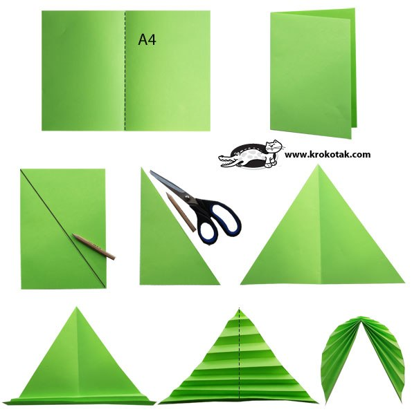Как сделать простой цветок из листа бумаги