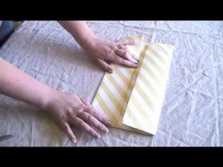 Как сложить коробку из бумаги.