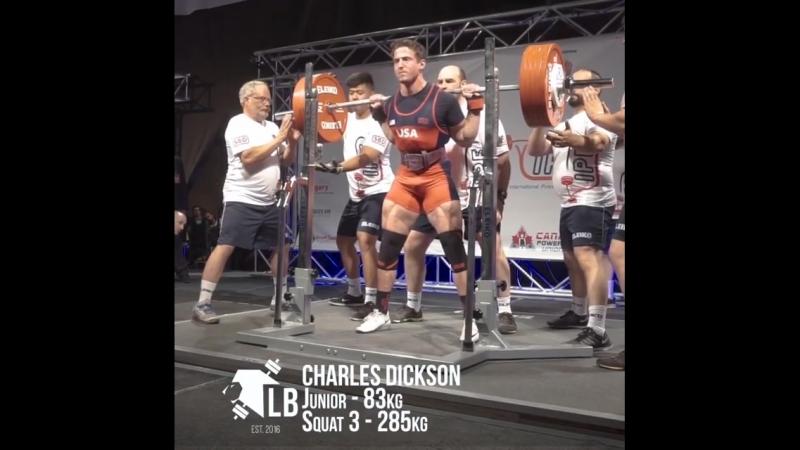 Charlie Dickson IPF 83kg Jr World Champion
