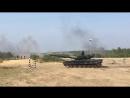 Т-80 забивает гвозди. День танкиста, Сертолово, 08.09.2018