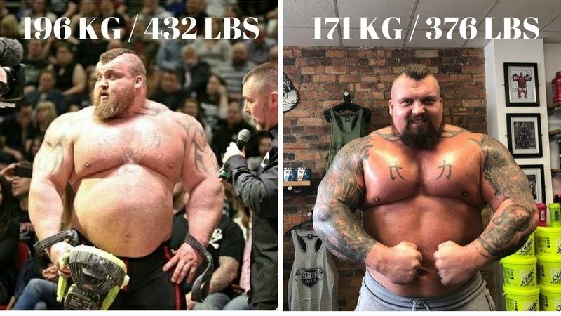 Eddie Hall The Beast Unbelievable Transformation 2018 196 KG432LBS To 171KG376LBS