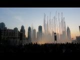 Фонтан Дубай. Танцующие фонтаны около Дубай Молла и Бурдж-Халифа. 8 февраля 2014 // 1  танец , 18.00
