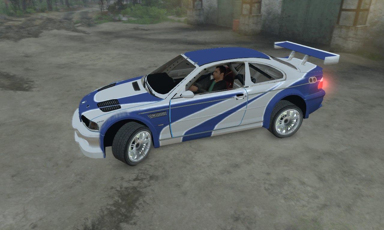 BMW M3 GTR для 03.03.16 для Spintires - Скриншот 3
